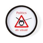 Politics as Usual Wall Clock
