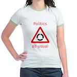 Politics as Usual Jr. Ringer T-Shirt
