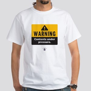 Warning: Contents under press White T-Shirt