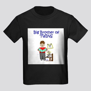 Big Brother of Twins Kids Dark T-Shirt