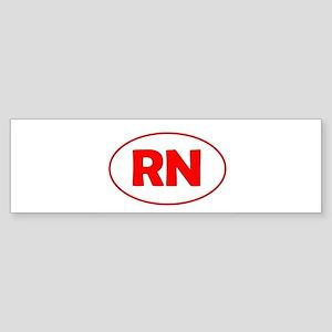 Circle Red Bumper Sticker