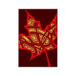 Fire Leaf Rectangle Magnet