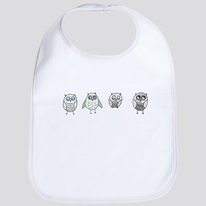 Curious Fat Birds Bib
