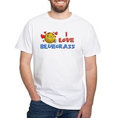 I Love Bluegrass White T-Shirt