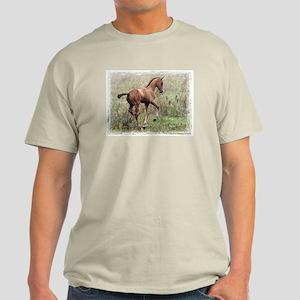 Playful Horse Foal Light T-Shirt