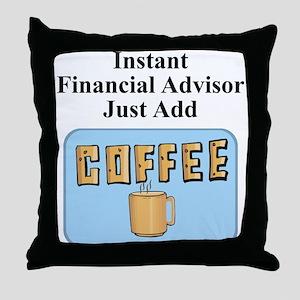 Financial Advisor Throw Pillow