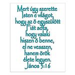 John 3:16 Hungarian Small Poster