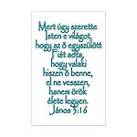 John 3:16 Hungarian Mini Poster Print