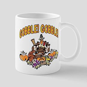 GOBBLE! GOBBLE! TURKEY PILGRIM Mug