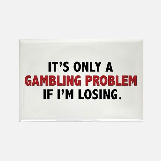 """Gambling Problem"" Rectangle Magnet"