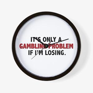 """Gambling Problem"" Wall Clock"