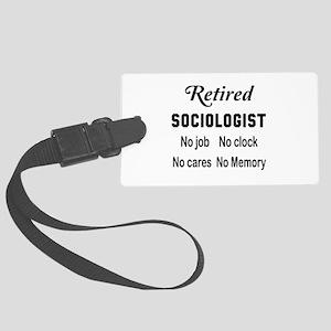 Retired Sociologist Large Luggage Tag