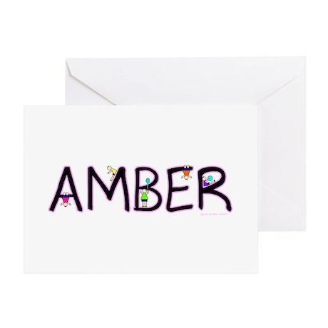 Amber (Girl) Greeting Card