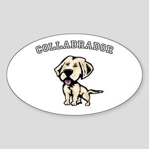 Collabrador Oval Sticker