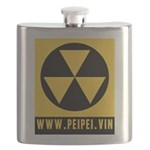 The Last Nuclear Fallout Sign Flask
