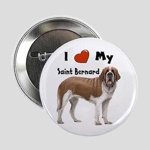 "I Love My Saint Bernard 2.25"" Button"