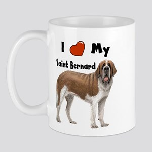 I Love My Saint Bernard Mug