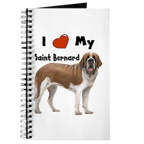 I Love My Saint Bernard Journal
