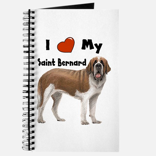 I Love My Saint Bernard Journal