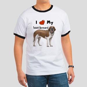 I Love My Saint Bernard Ringer T