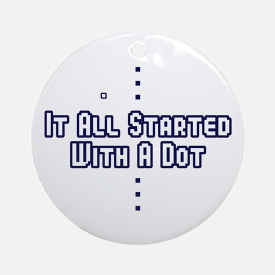 Funny Pong Saying Ornament (Round)