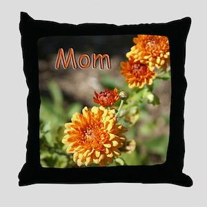 Mom Chrysanthemum Throw Pillow