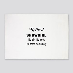 Retired Showgirl 5'x7'Area Rug