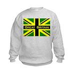 Black Union Jack Kids Sweatshirt