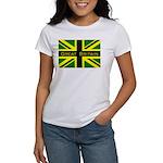Black Union Jack Women's T-Shirt
