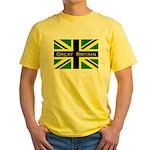 Black Union Jack Yellow T-Shirt