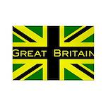 Black Union Jack Rectangle Magnet (100 pack)