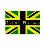 Black Union Jack Rectangle Magnet (10 pack)