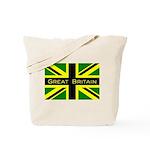 Black Union Jack Tote Bag