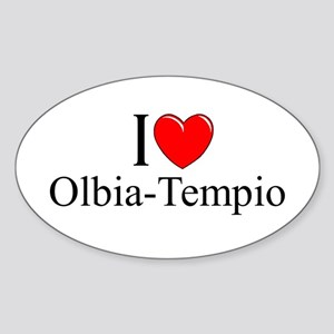 """I Love (Heart) Olbia-Tempio"" Oval Sticker"