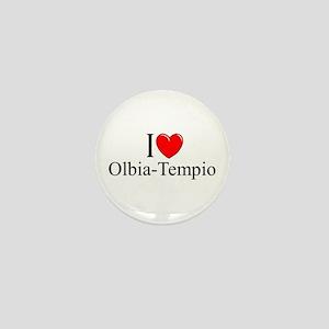 """""""I Love (Heart) Olbia-Tempio"""" Mini Button"""
