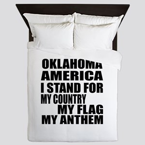 I Stand For Oklahoma Queen Duvet