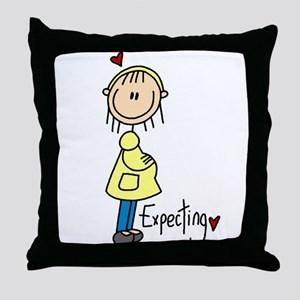 Expecting Baby Throw Pillow