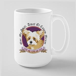 Love Me, Love My Dog - Yorkie Large Mug