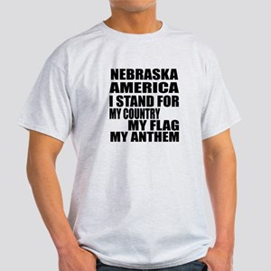 I Stand For Nebraska Light T-Shirt