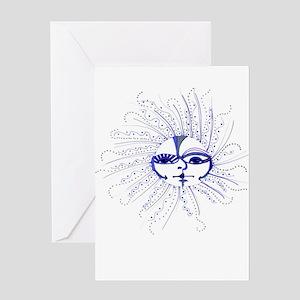Moon Face Greeting Card