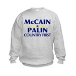 McCain Palin Country First Kids Sweatshirt