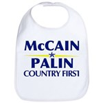 McCain Palin Country First Bib