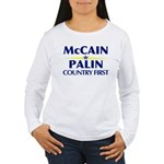 McCain Palin Country First Women's Long Sleeve T-S