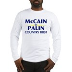 McCain Palin Country First Long Sleeve T-Shirt