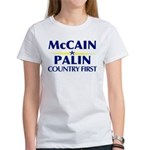McCain Palin Country First Women's T-Shirt
