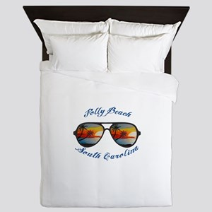 South Carolina - Folly Beach Queen Duvet