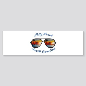 South Carolina - Folly Beach Bumper Sticker