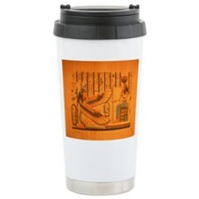 MAAT AND AUSET (ISIS) Stainless Steel Travel Mug