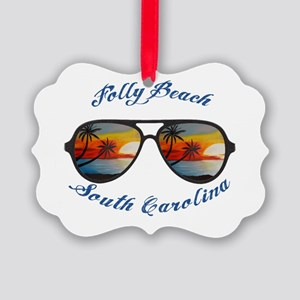 South Carolina - Folly Beach Picture Ornament