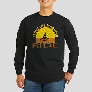 i love the morning ride Long Sleeve Dark T-Shirt